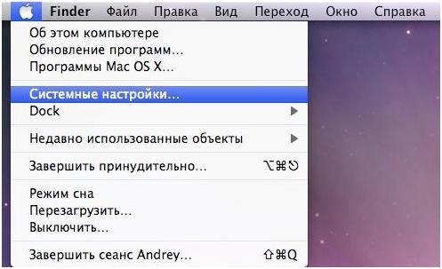 Скриншот Системные настройки