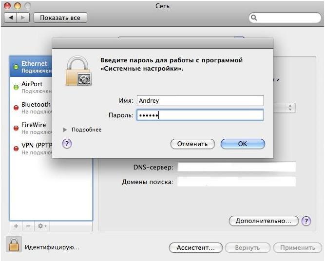 Скриншот Введите пароль